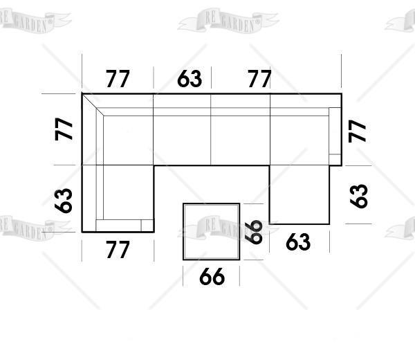 Modulo - Tavolino 66x66 - 3